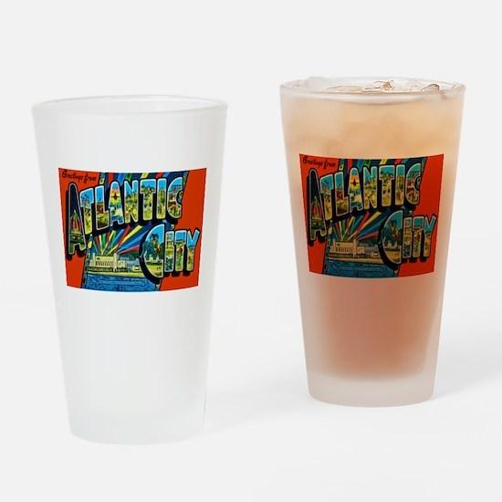 Atlantic City New Jersey Drinking Glass