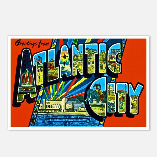 Atlantic City New Jersey Postcards (Package of 8)