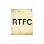 rtfc-shirt Sticker (Rectangle 10 pk)