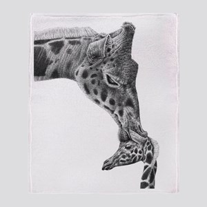 Giraffe and Calf Throw Blanket