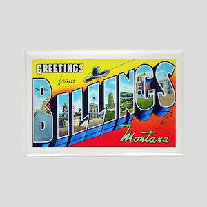 Billings Montana Greetings Rectangle Magnet