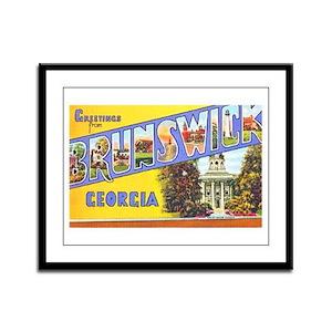 Brunswick Georgia Greetings Framed Panel Print