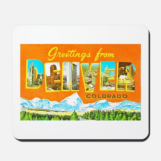 Denver Colorado Greetings Mousepad