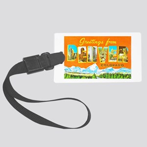 Denver Colorado Greetings Large Luggage Tag