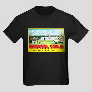 Denver Colorado Greetings Kids Dark T-Shirt