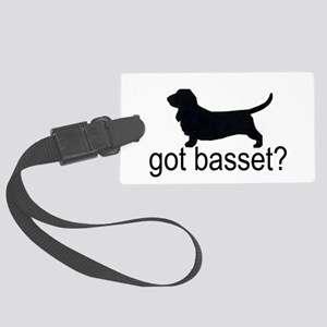 got basset? Large Luggage Tag