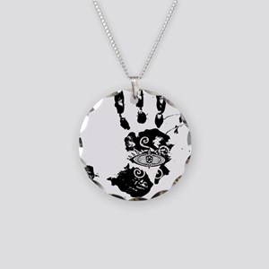 Hand of Fatima Necklace Circle Charm