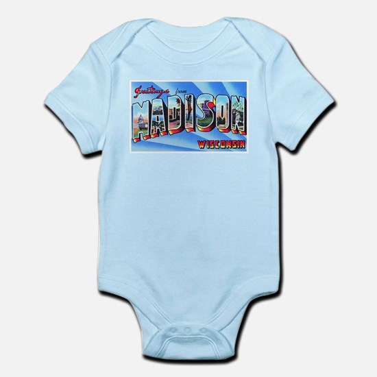 Madison Wisconsin Greetings Infant Bodysuit