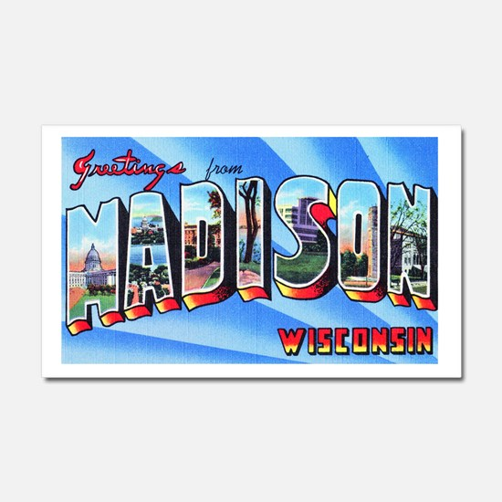 Madison Wisconsin Greetings Car Magnet 20 x 12