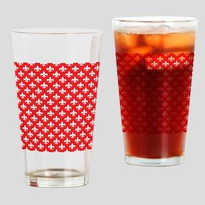 Fleur-de-lis on red Drinking Glass