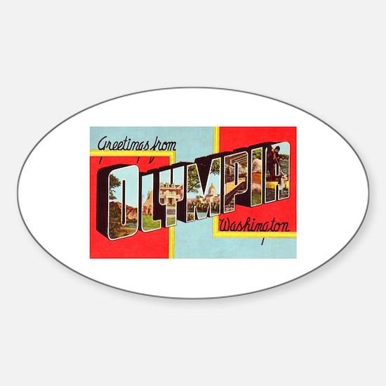 Olympia Washington Greetings Sticker (Oval)