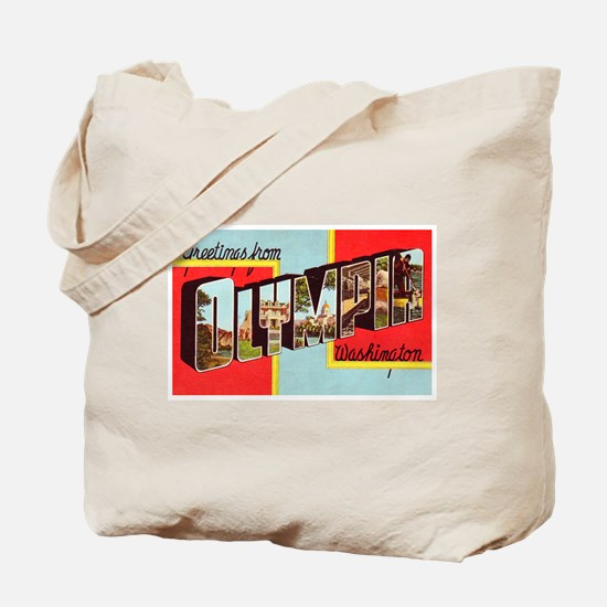 Olympia Washington Greetings Tote Bag