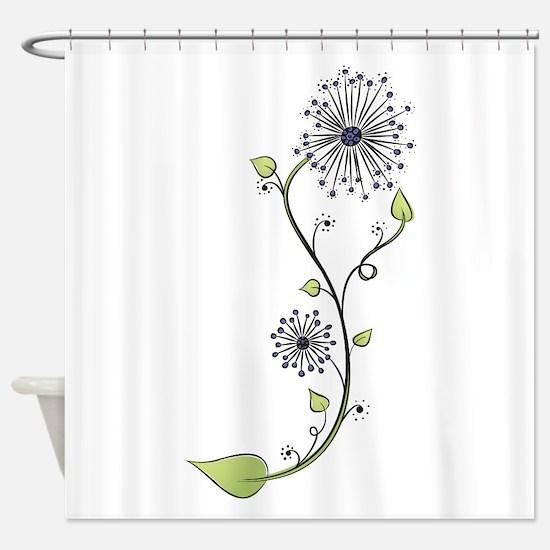 Flower Doodle S Shower Curtain