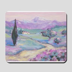 Purple mountain Painting Mousepad