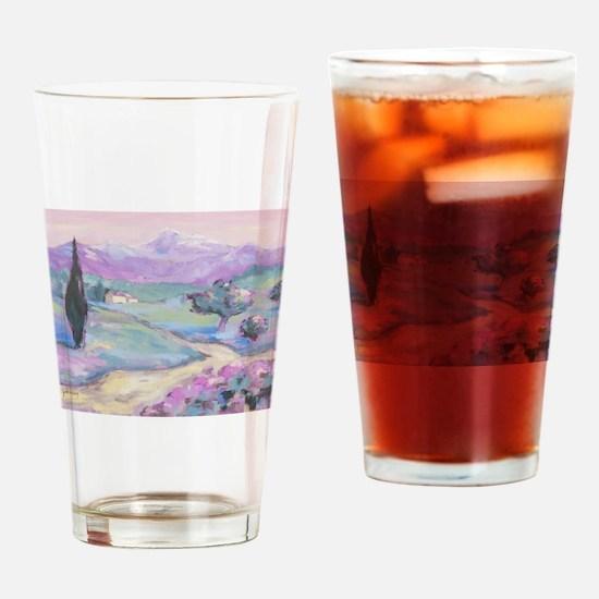 Purple mountain Painting Drinking Glass