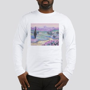 Purple mountain Painting Long Sleeve T-Shirt