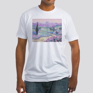 Purple mountain Painting Fitted T-Shirt