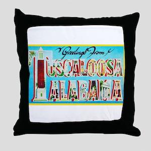 Tuscaloosa Alabama Greetings Throw Pillow