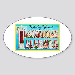 Tuscaloosa Alabama Greetings Sticker (Oval)