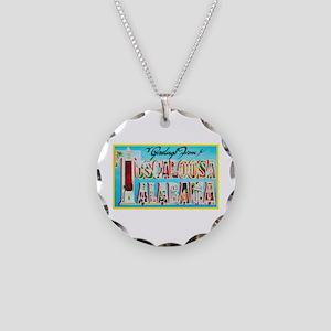 Tuscaloosa Alabama Greetings Necklace Circle Charm
