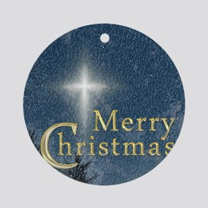 The Bethlehem Star Merry Christmas Ornament (Round