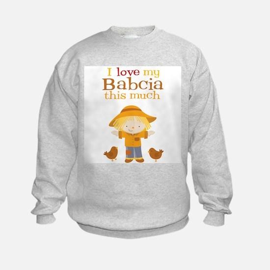 Scarecrow I Love Babcia Sweatshirt