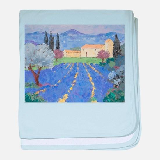 Lavender Farm baby blanket