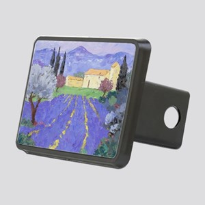 Lavender Farm Rectangular Hitch Cover