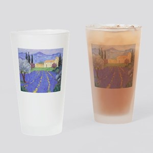 Lavender Farm Drinking Glass