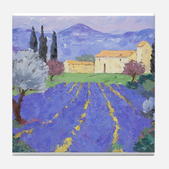 Lavender Farm Tile Coaster