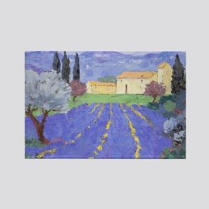 Lavender Farm Rectangle Magnet