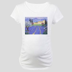 Lavender Farm Maternity T-Shirt