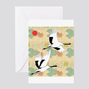 Crane greeting cards cafepress soaring cranes greeting card m4hsunfo