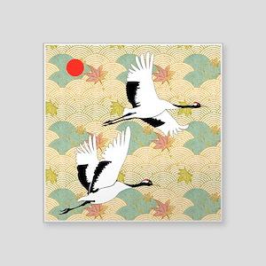 Soaring Cranes - Square Sticker