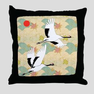 Soaring Cranes - Throw Pillow