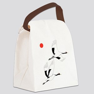 Soaring Cranes - Canvas Lunch Bag