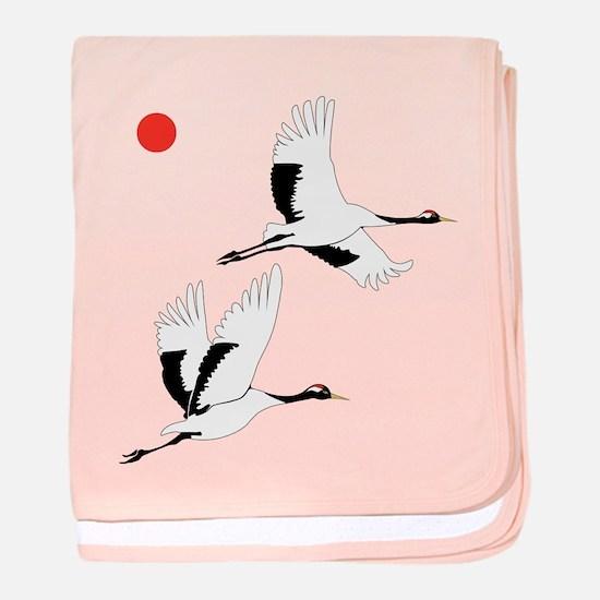 Soaring Cranes - Baby Blanket