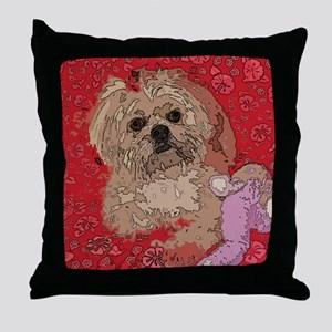 Lhasa Apso Pop Art Shelbi Throw Pillow