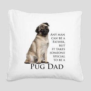 Pug Dad Square Canvas Pillow