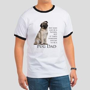 Pug Dad Ringer T