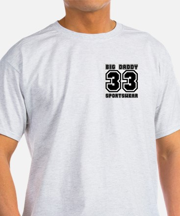 BIG DADDY 33  Ash Grey T-Shirt