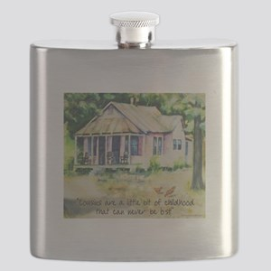 Cousins - a Little Bit of Childhood Quote Flask