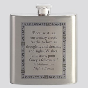 Because It Is A Customary Cross Flask