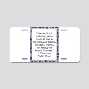 Because It Is A Customary Cross Aluminum License P