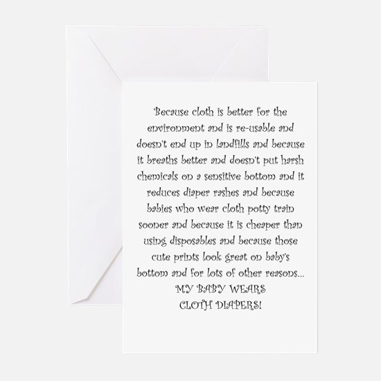 Cloth Diaper Advocacy Greeting Cards (Pk of 10