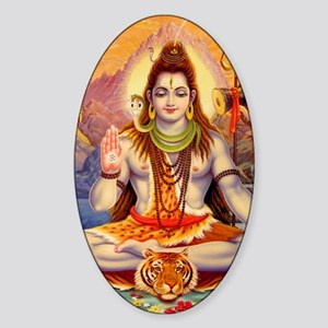 Lord Shiva Meditating Sticker (Oval)