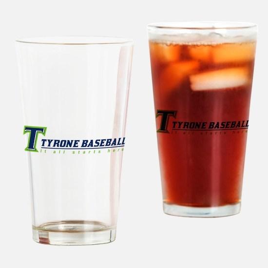 Tyrone Youth Baseball Drinking Glass