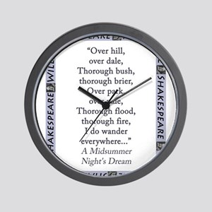 Over Hill, Over Dale Wall Clock