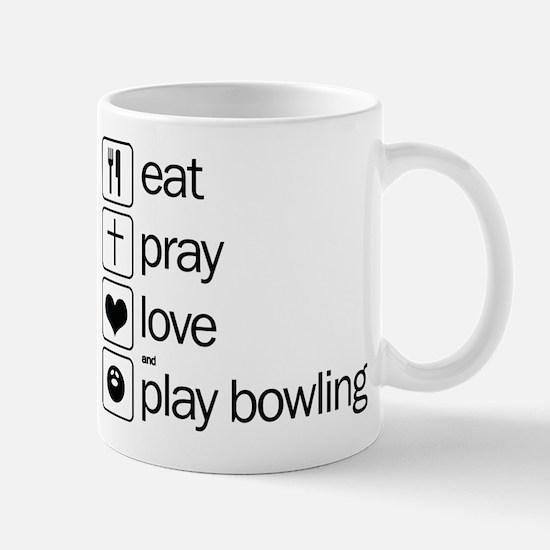 eat and play bowling Mug