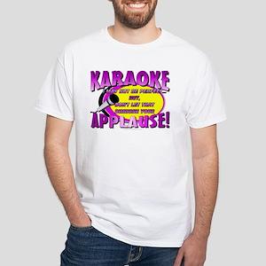 KARAOKE! Applause White T-Shirt